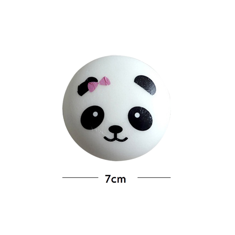 Bag Parts & Accessories 7cm Jumbo Panda Squishy Charms Kawaii Buns Bread Cell Phone Key/bag Strap Pendant Squishes Bag Accessories