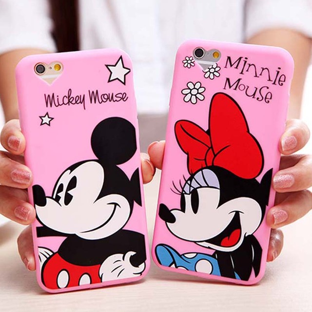 Cute Cartoon Minnie Mouse Phone Cases For Apple iPhone 6 6S 6/6S Plus 5 5S SE