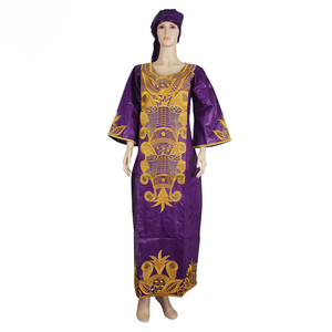 Image 3 - MD 南アフリカ女性服、伝統的なアフリカのドレスバザンリッシュ headwrap アフリカプラスサイズアフリカのプリントドレス