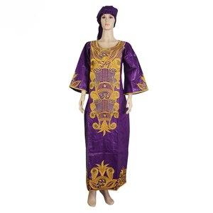 Image 3 - MD جنوب أفريقيا السيدات الملابس التقليدية الأفريقية فساتين للنساء بازان الثراء أغطية الرأس الأفريقية حجم كبير فستان الطباعة الأفريقية