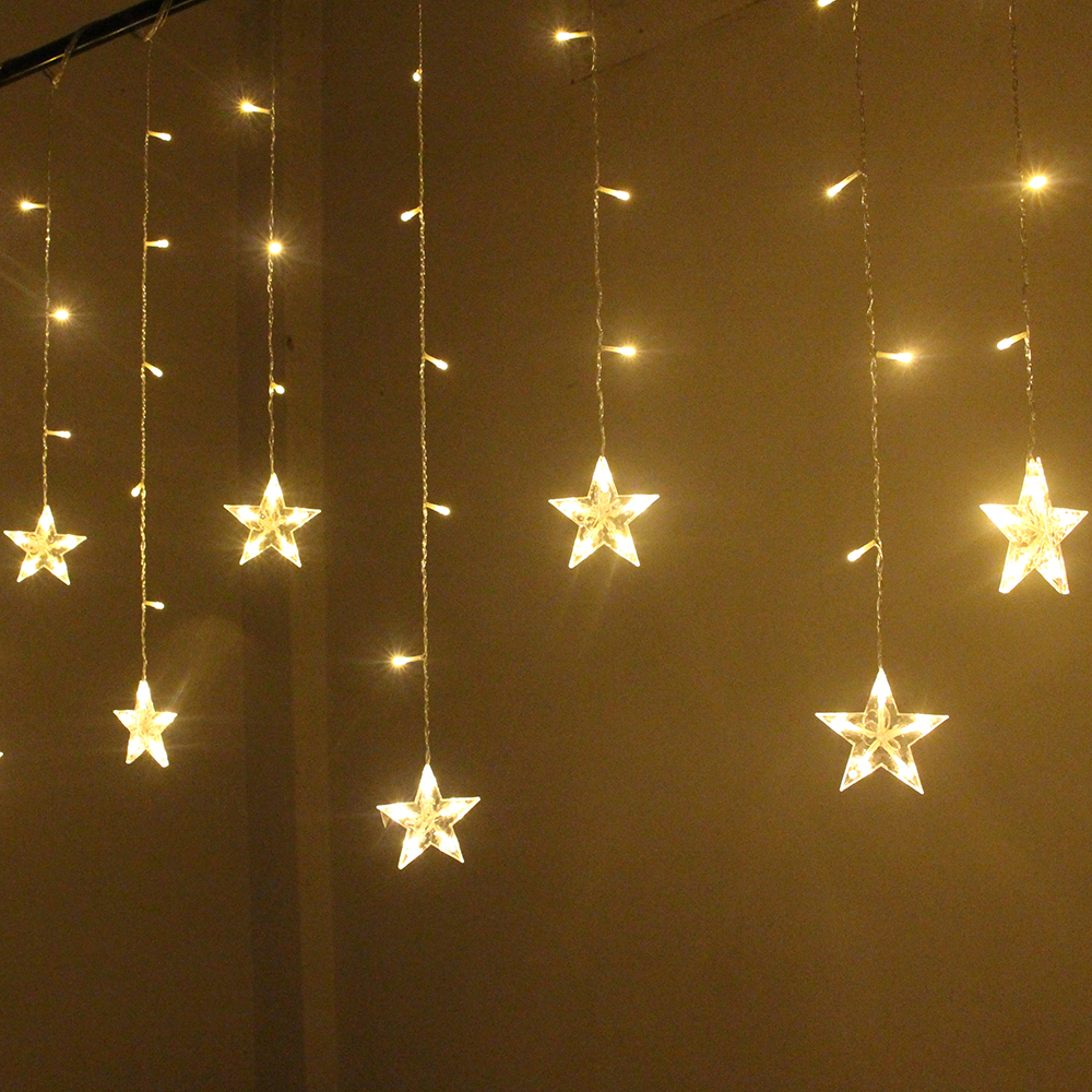 Image 4 - 2M Star Fairy Lights Christmas Star String Lights Garland Led Curtain Wedding/Home/Party/Garden/Birthday Decoration Lighting-in LED String from Lights & Lighting on