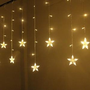 Image 4 - 2M Star Fairy Lights Christmas Star String Lights Garland Led Curtain Wedding/Home/Party/Garden/Birthday Decoration Lighting