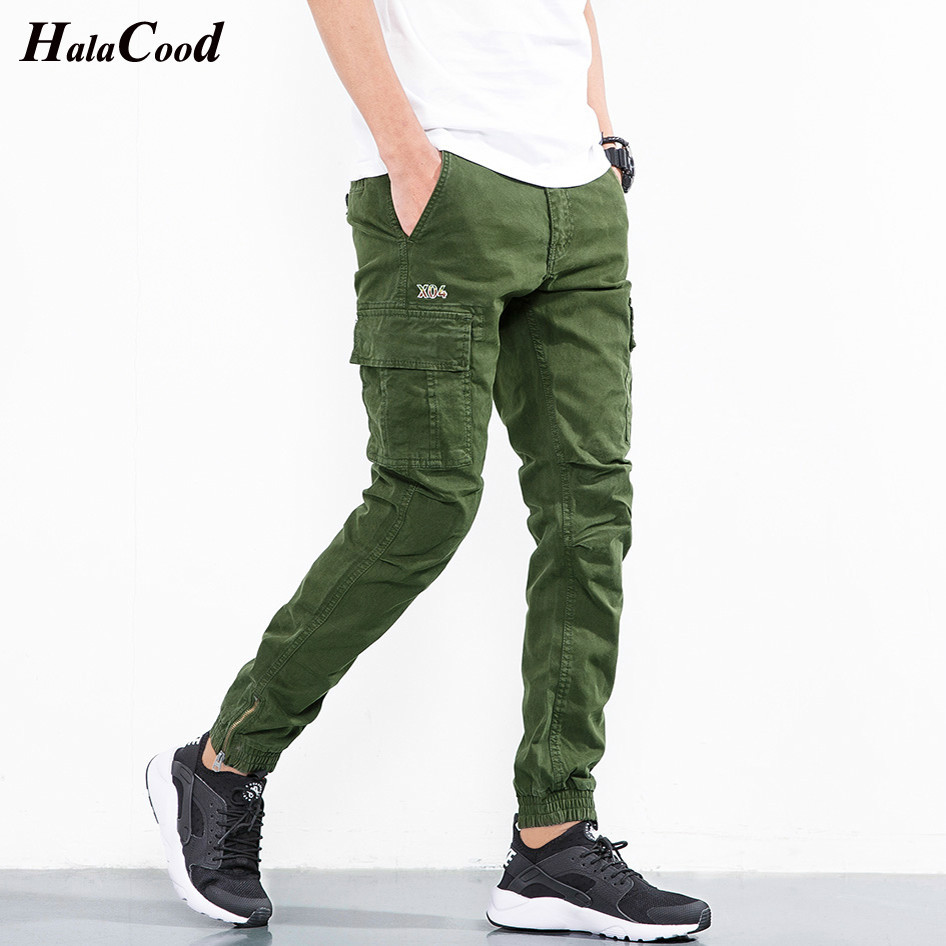 Hot Sell New Fashion Slim Fit Comfortable Pencil Cotton Casual Pants Men Army Green Trousers Male Harem Brand Clothing Quality Skinny Pants Aliexpress