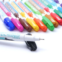 1pcs 0.5 mm 12 Colors Marker Pen Extra Fine Alcohol Base Ink Permanent Mark on film / wood / fabric / metal / glass(China)