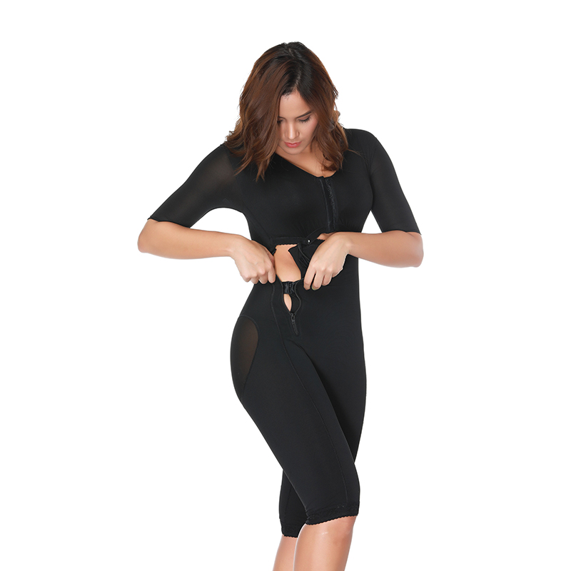 Colombianas Post-chirurgie corps complet bras Shaper corps costume Powernet ceinture noir taille formateur Corsets minceur Shapewear