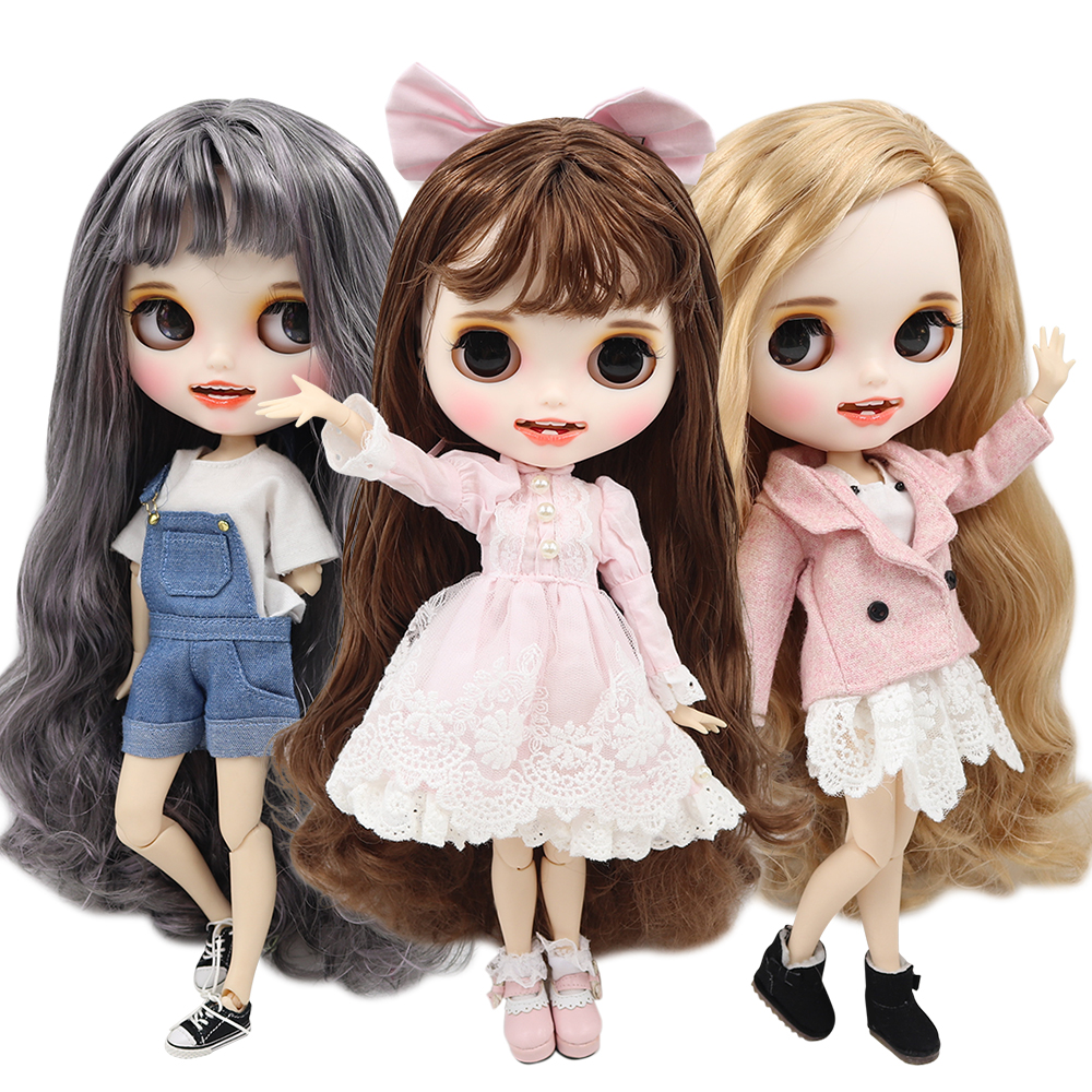 ICY factory blyth doll 1 6 bjd customized face white skin joint body new matte face