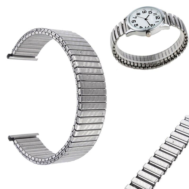 NEW Elastic Stainless Steel Watchband 12mm 16mm 18mm Universal Replacement Watch Bands Classic Bracelet Link Pull Strap Silver квадрокоптер радиоуправляемый mjx bugs 3