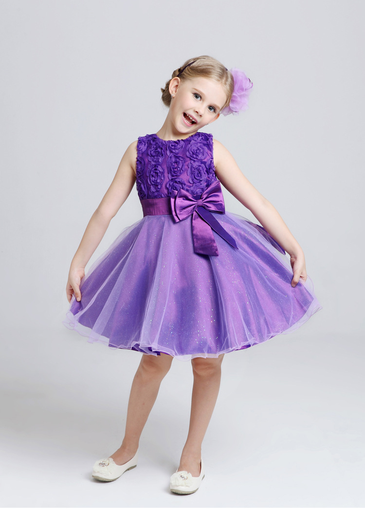 ᐅ2017 Nuevo Niñas vestido princesa vestido niña vestidos de fiesta ...