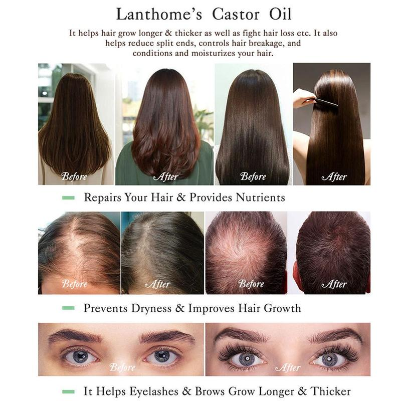 55ml Castor Seed Oil Haircare Essential Oil Nourish Scalp Repair Dry Damage Hair Eyelashes Eyebrow Growth Treatment Hairdressing 3