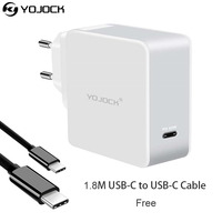Yojock USB Type C PD Charger Power Delivery 60W Portable Wall Charger Adapter For Nintendo Switch