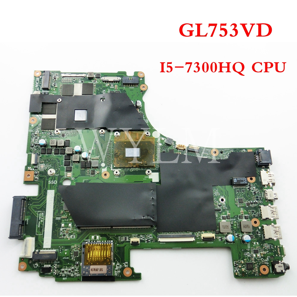 GL753VD Avec I5-7300 CPU carte mère Pour ASUS GL753VD GL753V GL753 mère d'ordinateur portable Testé Travail 90NB0DM0-R01200 livraison gratuite