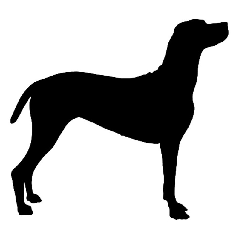 13.7*12.7CM Hungarian Vizsla Dog Heart Vinyl Decal Silhouette Car Stickers Car Styling Truck Accessories Black/Silver S1-1121