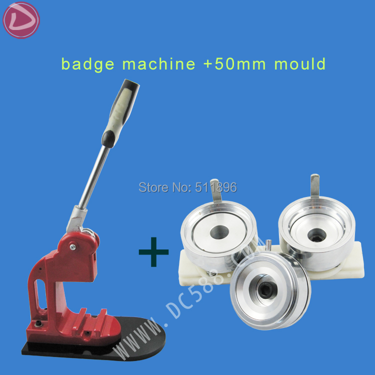 2016 New metal Badge Making Machine press button making machine+50mm badge mold , Factory direct sale 2016 new machine manual press badge making machine factory direct sale