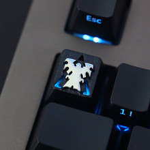 Customized embossed zinc alloy keycap for game mechanical keyboard, high-end unique DIY E