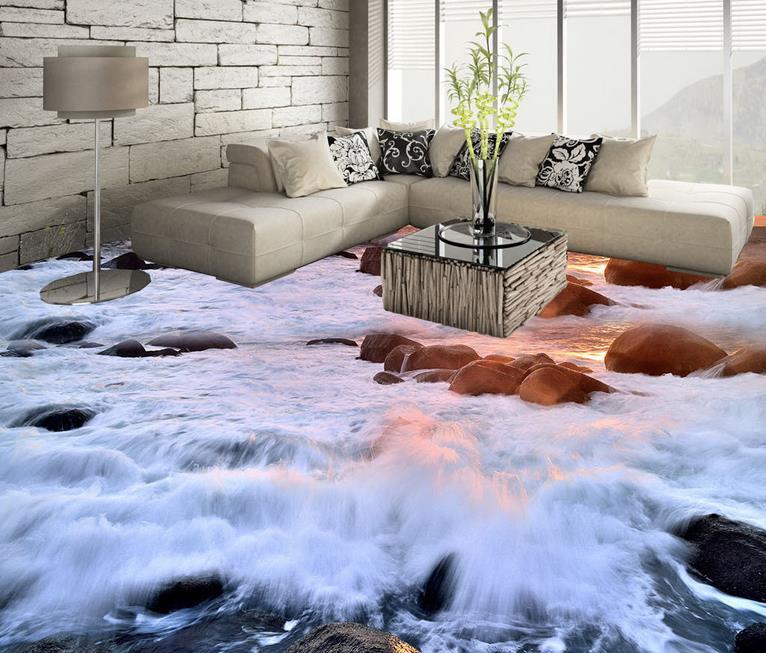 3d Tapete Schlafzimmer  3d Bodenbelag Unterwasser Wandmalereien Meer Riff 3d Boden