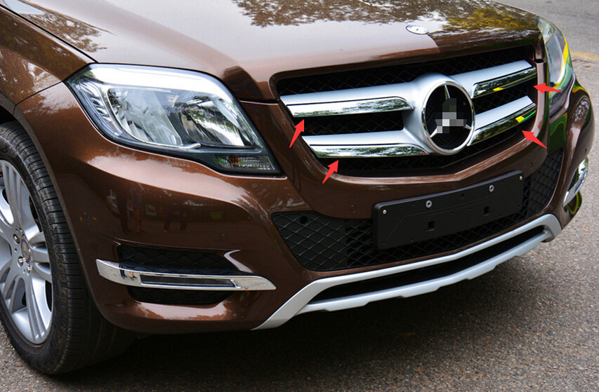 ABS Front Grille Racing Grille Cover Trims 4 pcs For Mercedes-Benz GLK 260 300 350 2013 2014