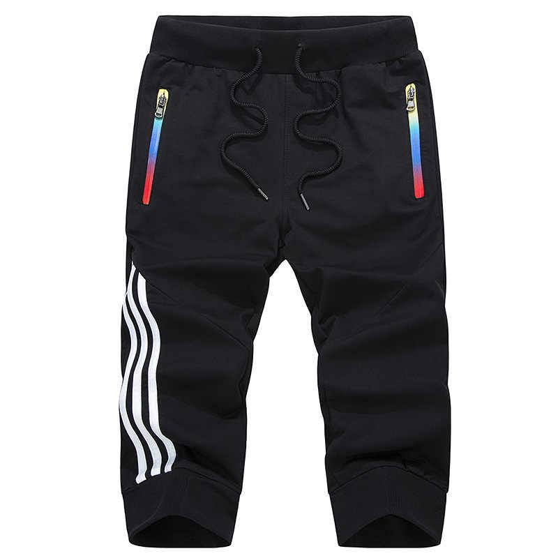 Pantalones cortos de verano de marca de moda para hombre Pantalones cortos casuales de secado rápido para hombre con bolsillo con cremallera de talla grande