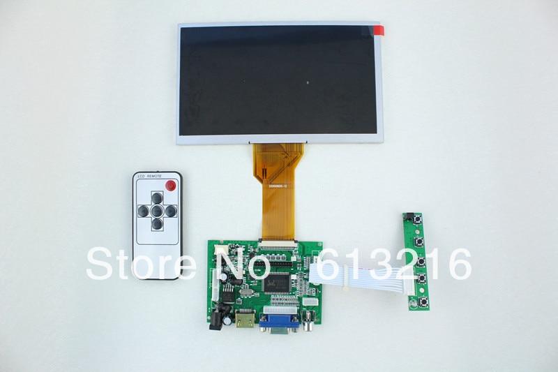 HDMI + 2AV + VGA ЖК плату драйвера + AT080TN64 с 800*480 + Пульт Дистанционного управления с приемником + OSD клавиатура с кабелем