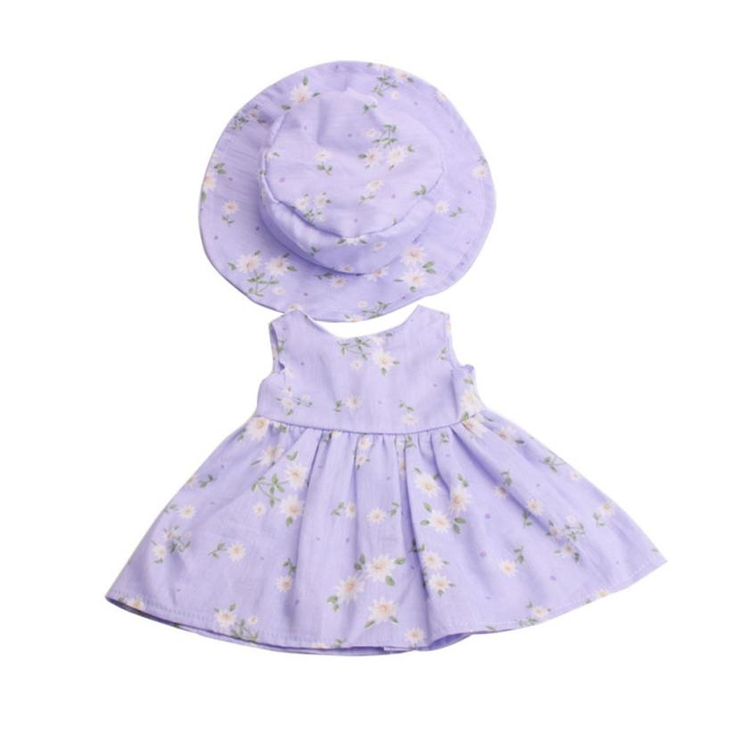 2018 HOT SALE High-Quality Skirt&Hat For 18 inch Our Generation American Girl Doll drop shipping Apr 16
