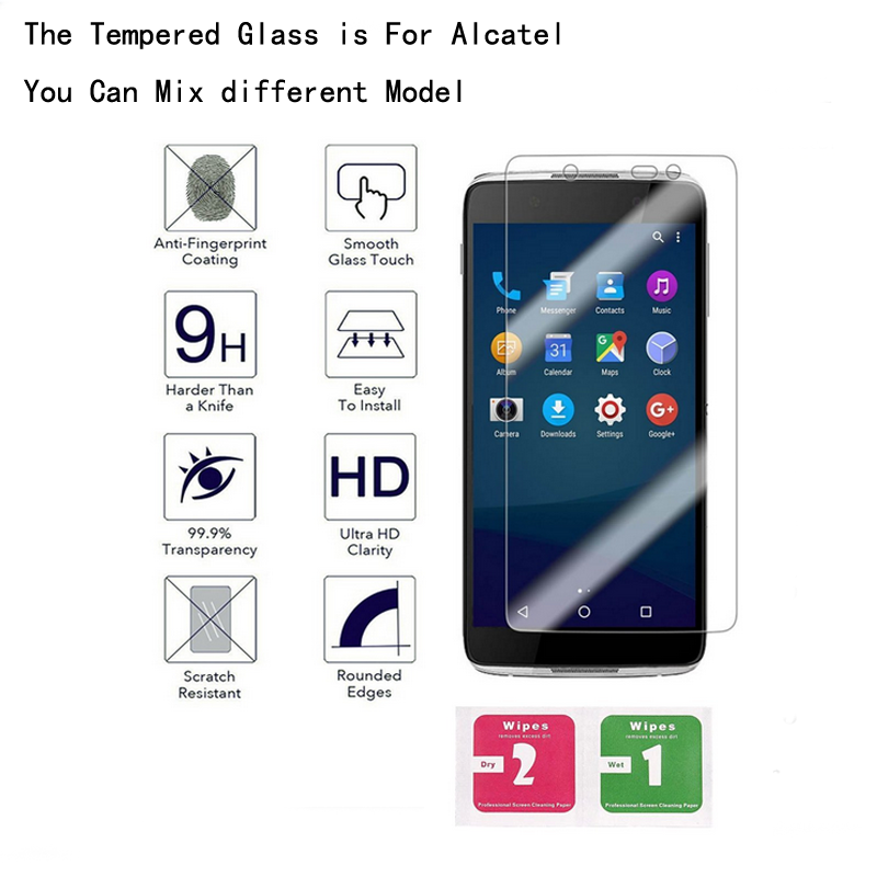 Galleria fotografica 10 PCS Premium Tempered Glass Screen Film For Alcatel One Touch POP 4 Plus 4S idol 4 4S Pixi3 3.5 4.0 4.5 5.0 5.5 inch Pop star