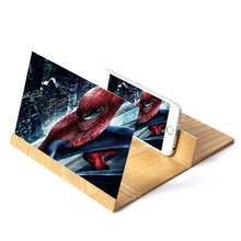 12 inch Desktop Folding Wood Bracket Mobile Phone Screen Magnifier 3D HD Video Amplifier Smartphone