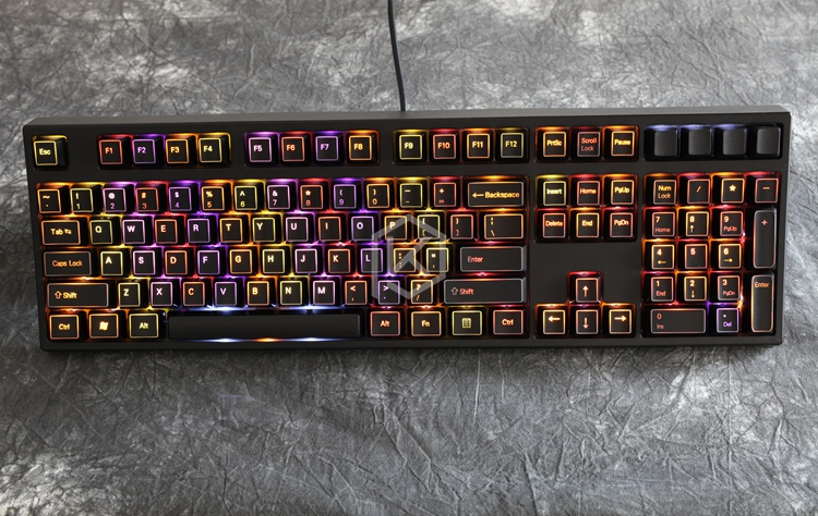 Illuminated abs black Keycaps 60 87 104 for diy gaming mechanical keyboard