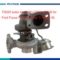 Auto kit TD025 turbo charger turbocharger parte parte compressor para Ford Focus Fiesta Fusão C-Max 1.6L HHDB HHJB HHJE motor
