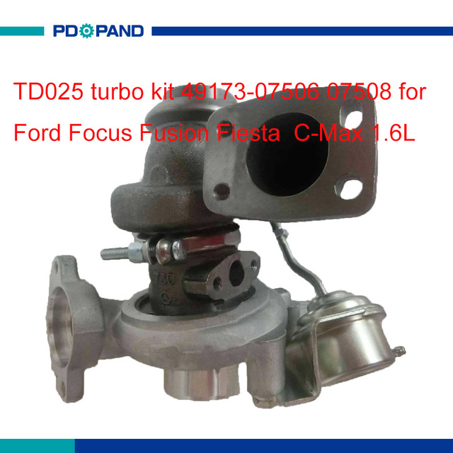 US $153 84 11% OFF|auto turbocharger kit TD025 turbo charger part  compressor part for Ford Focus Fiesta Fusion C Max 1 6L HHDB HHJB HHJE  engine-in