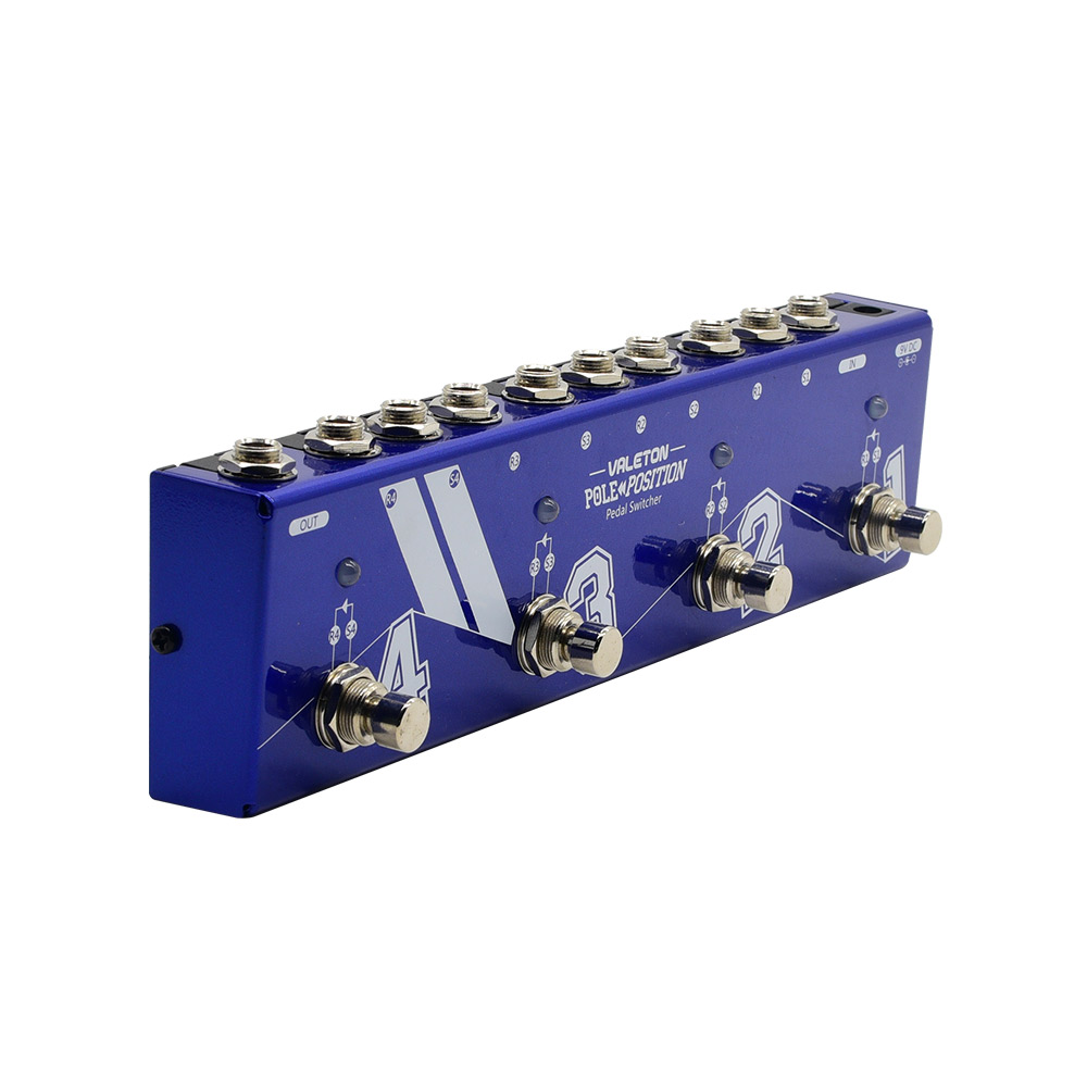 Interruptor de Pedal de 4 bucle de posición de poste de Valeton con carcasa de chapa h y interruptores de pie de alta resistencia VLS-10