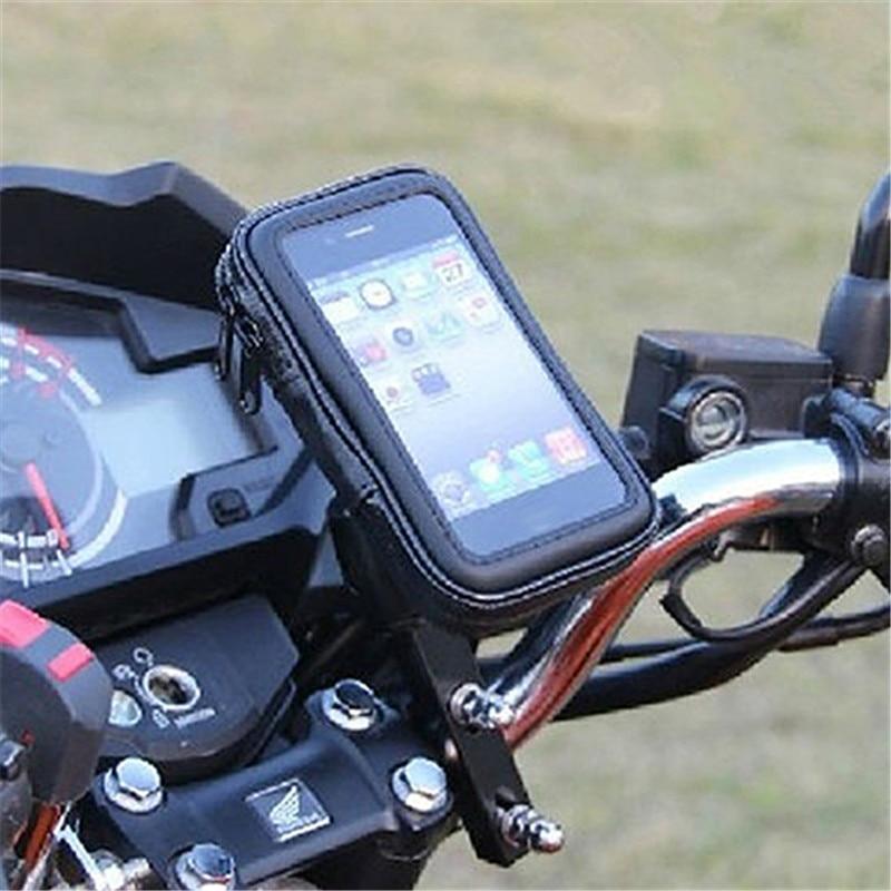Saco de Bicicleta à prova d' água Da Motocicleta Handle Bar Titular Bracket para iPhone 6 Plus