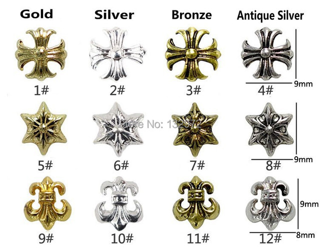 120pcs Pack 24 Kinds Anchor Cross Star Of David Nail Art Decorations