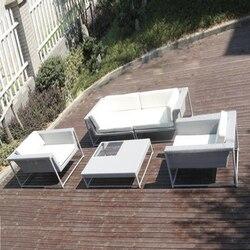 5-pcs new design garden sofas Pastoralism Home Indoor / Outdoor Rattan Sofa For Living Room
