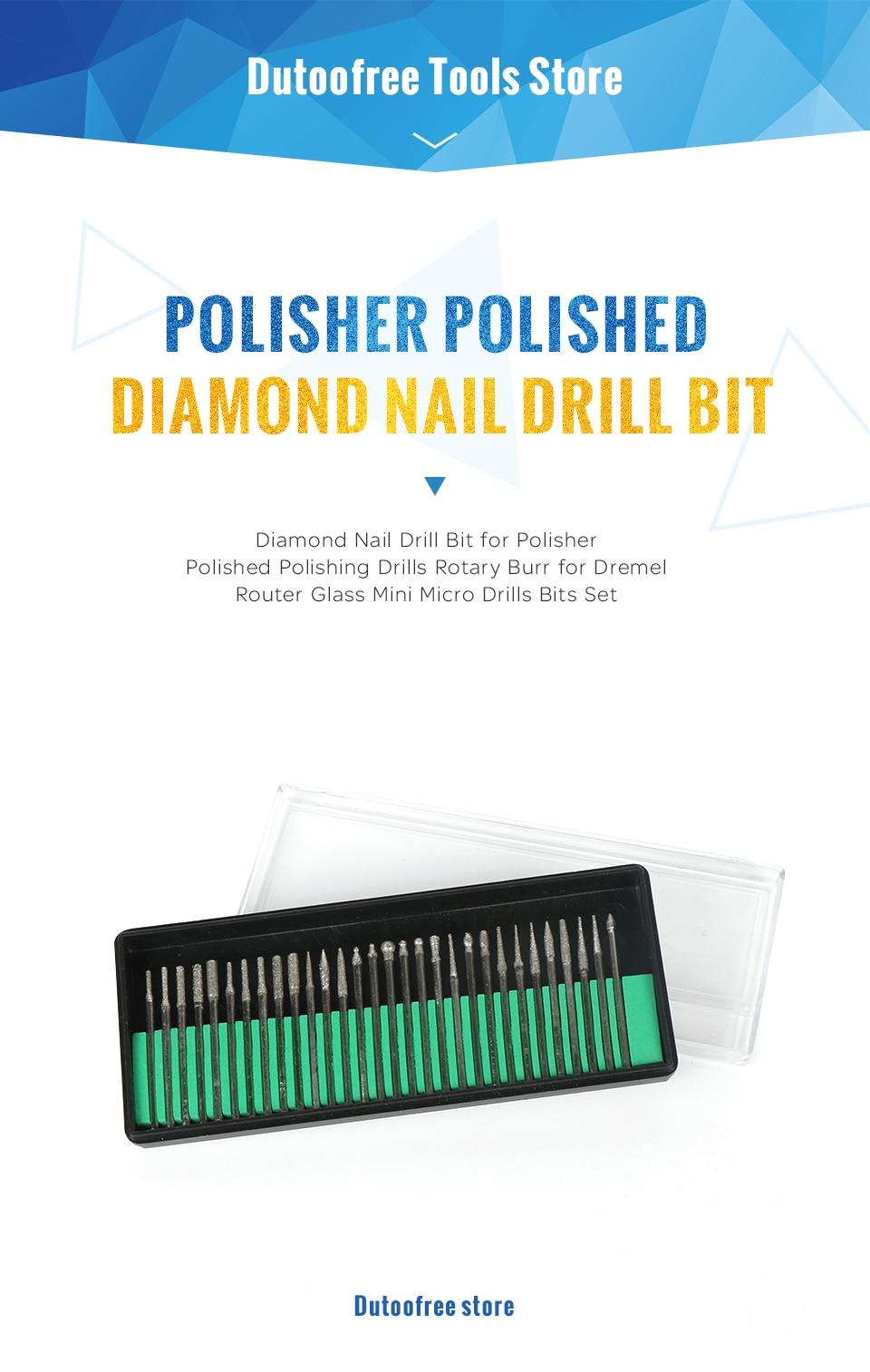Aliexpress.com : Buy Tungfull Tool Diamond Nail Drill Bit DIY ...