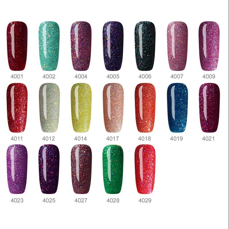Essaje Glitter Neon Nail Gel for Full Set Gel Manicure Colorful ...