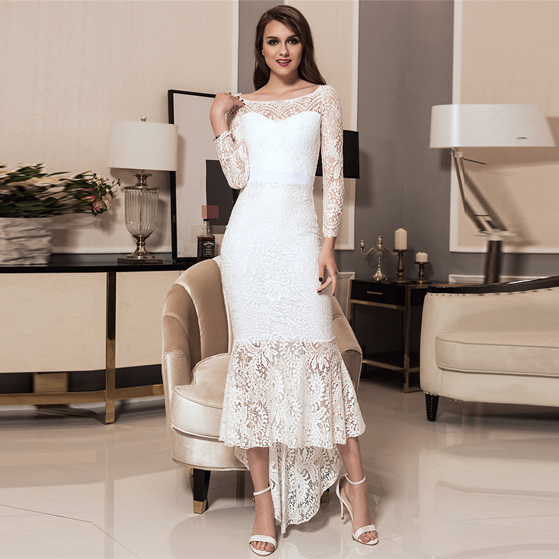 Soiree Black and White Dress