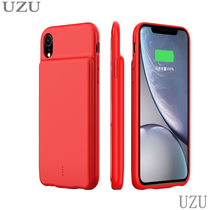 5000mah ultra thin battery charger case for iphone xs amx shockproof portable wireless battery