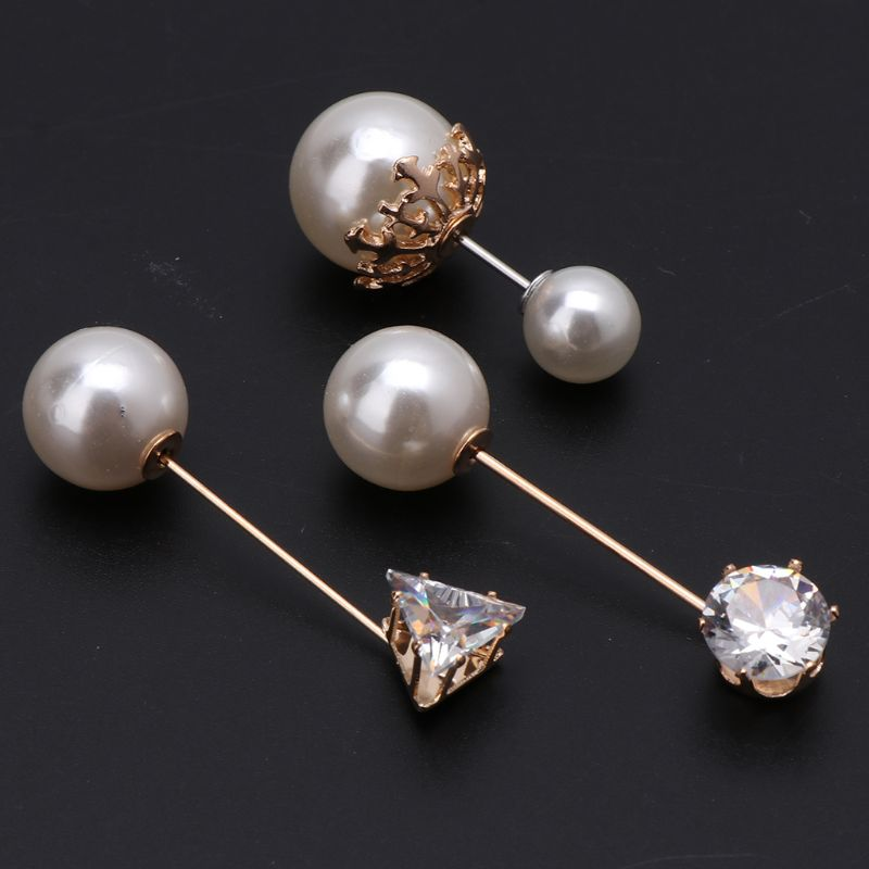 3Pcs Assorted Imitation Pearl Crystal Brooches Safety Pins Set For Women Jewelry Accessories Pearls Brooches All match in Brooches from Jewelry Accessories