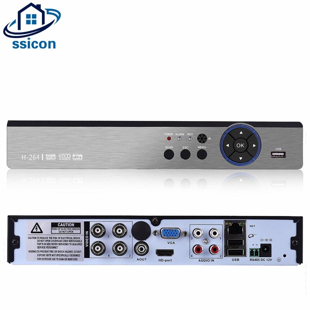 SSICON 4 canaux 5 IN1 sécurité 4MP CCTV caméra DVR Hybird NVR pour 4.0MP AHD CVI TVI analogique caméra IP 4CH AHD enregistreur vidéo
