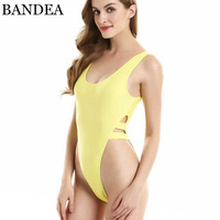 2015 Sexy One Piece Swimwear Backless High Cut Swimsuit Womens Thong Bathing Suits Leotard Body Suit