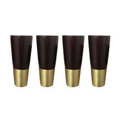 4,5x10,5 см простые Стильные резиновые деревянные ножки мебель ножки стол Шкаф ножки с железной пластиной и винтами