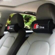 2 UNIDS Suministros Cuello Reposacabezas del vehículo Auto Seguridad Almohada para Audi A4 A6 c5 c6 c4 A3 A5 A7 A8 Q5 Q7 R8 TT B5 B6 B7 B8 Sline Rs