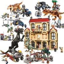 Мир Юрского периода брутальный Raptor строительные блоки Jurrassic World 2 фигурки динозавров Кирпичи игрушки для детей Дино Совместимость Legoing