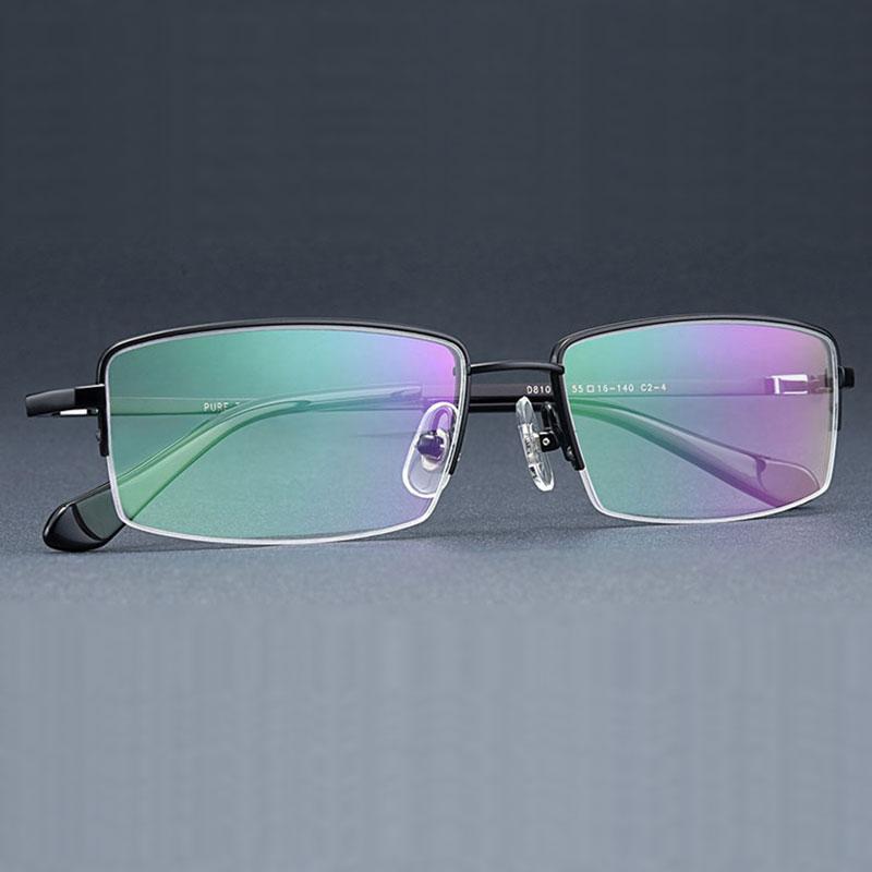 Reven Jate Semi rim Titanium Eyewear Smart zoom  Multifocal  Reading Anti-blue Ray  Presbyopia Hyperopia Multifocal