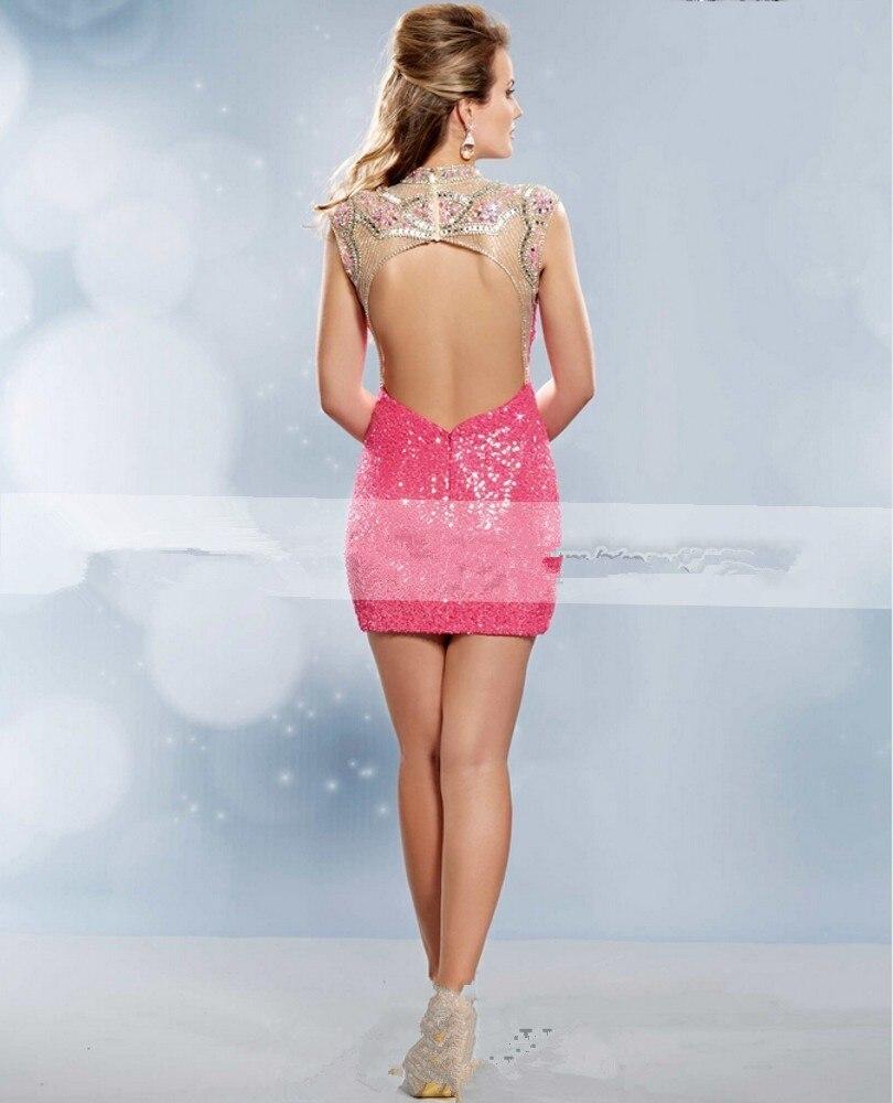 Sparkly Pink short tight Vestidos de Fiesta 2016 barato de ...