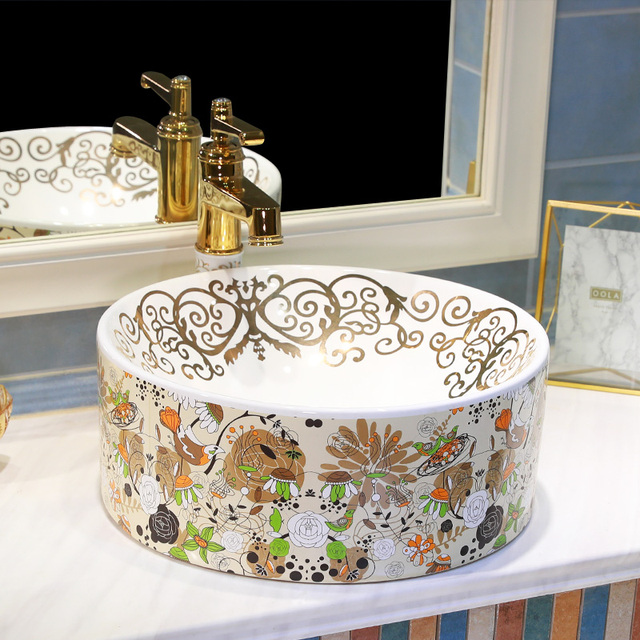 Bad Garderobe Europa Vintage Style Art waschbecken Keramik ...