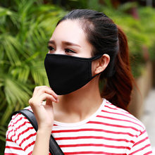 Mouth Mask Cotton Cute PM2.5 Anti Haze Black Dust Mask Nose Filter Windproof Face Muffle Bacteria Flu Fabric Cloth Respirator(China)