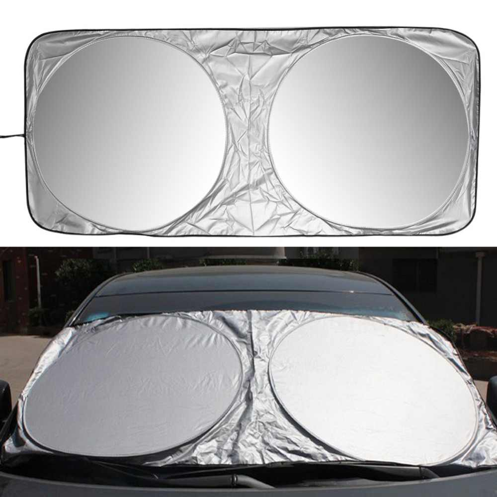 150 X 70cm Car Sunshade Sun Shade Front Rear Window Film Windshield Visor Cover UV Protect Reflector Car-styling High Quality