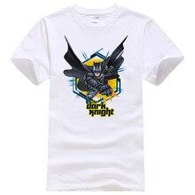 2018 Лето 100% хлопок супергерой Бэтмен футболка Повседневная футболка с короткими рукавами для мужчин печатных 138