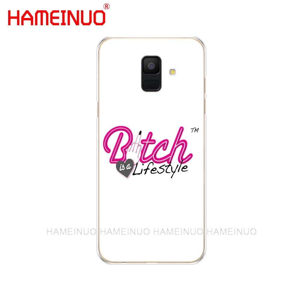 US $1 64 34% OFF|HAMEINUO Bitch mode on pink boos cover phone case for  Samsung Galaxy J4 J6 J8 A9 A7 2018 A6 A8 2018 PLUS j7 duo-in Half-wrapped  Case