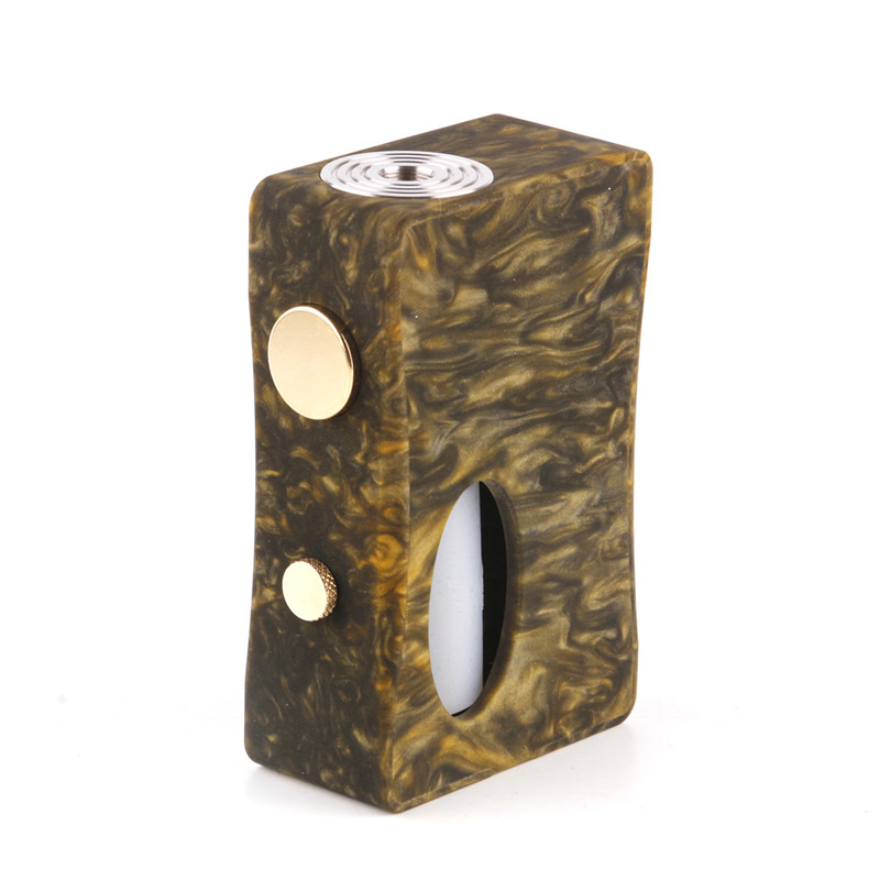 Original Aleader x-goutte Squonk boîte MOD résine bois corps Cigarette électronique Mod 7 ml Squonk bouteille 510 fil Vape boîte Mod Kit - 3